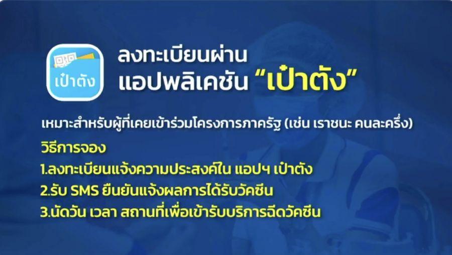 ลงทะเบียน www.ไทยร่วมใจ.com จองฉีด 'วัคซีนโควิด-19'