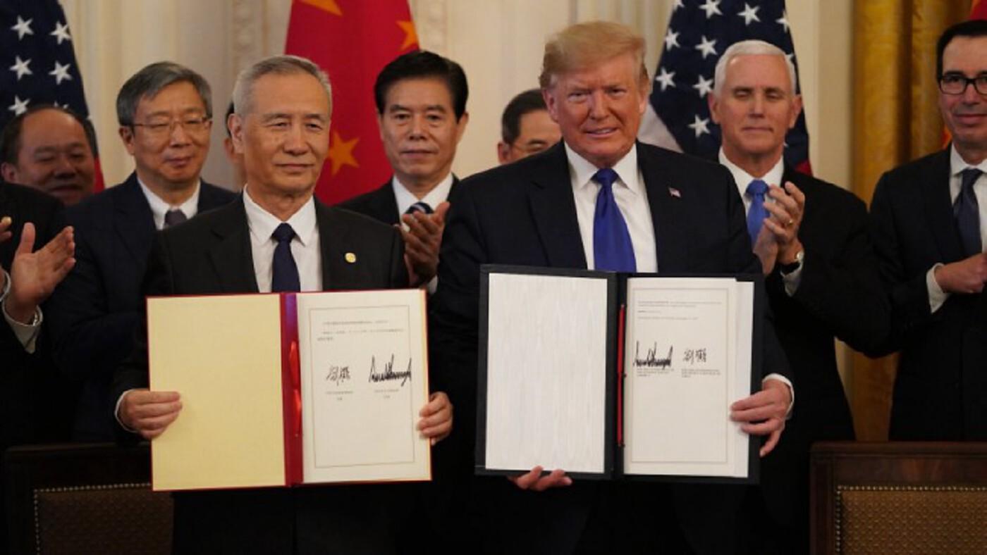 'สหรัฐ-จีน'ลงนามข้อตกลงการค้าเฟสแรก