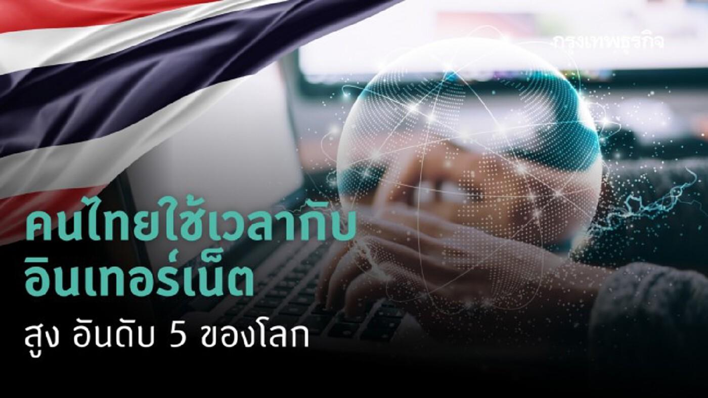 คนไทยใช้เวลากับอินเทอร์เน็ตสูง 'อันดับห้า' ของโลก