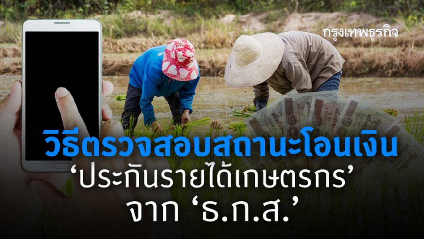 วิธีตรวจสอบสถานะโอนเงิน 'ประกันรายได้เกษตรกร' จาก 'ธ.ก.ส.'