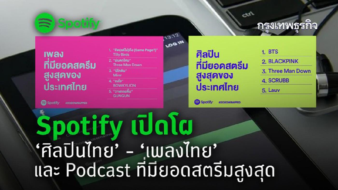 Spotify เปิดโผ 'ศิลปินไทย' -'เพลงไทย'และ Podcast ที่มียอดสตรีมสูงสุด!!