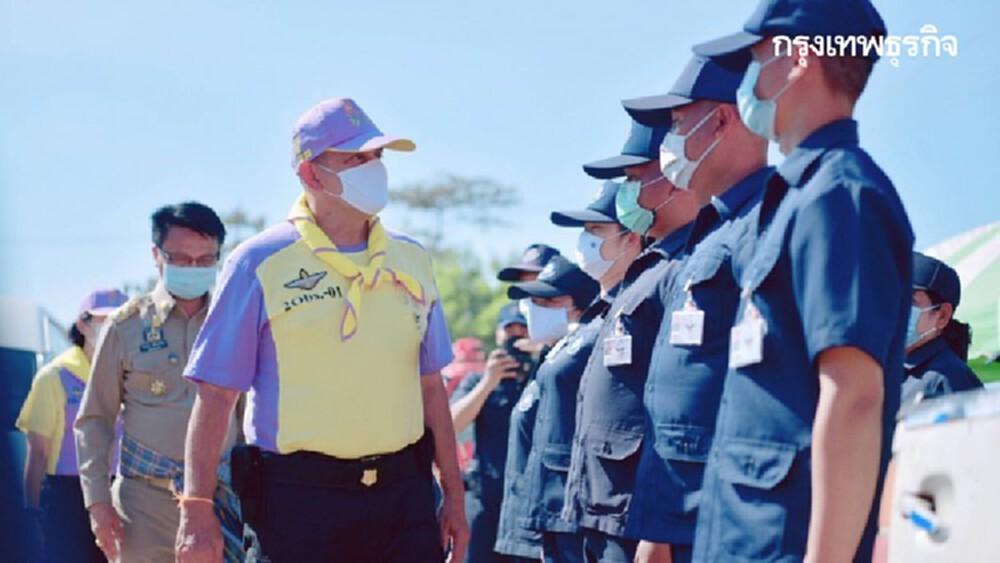 'ผบ.นทพ.' ย้ำ หน่วยตั้งจุดบริการประชาชนคงมาตราการป้อง 'โควิด- อุบัติเหตุ'