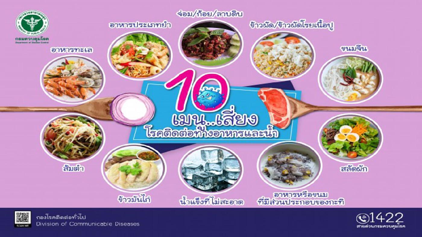 10 เมนูอาหารต้องระวังช่วงหน้าร้อน