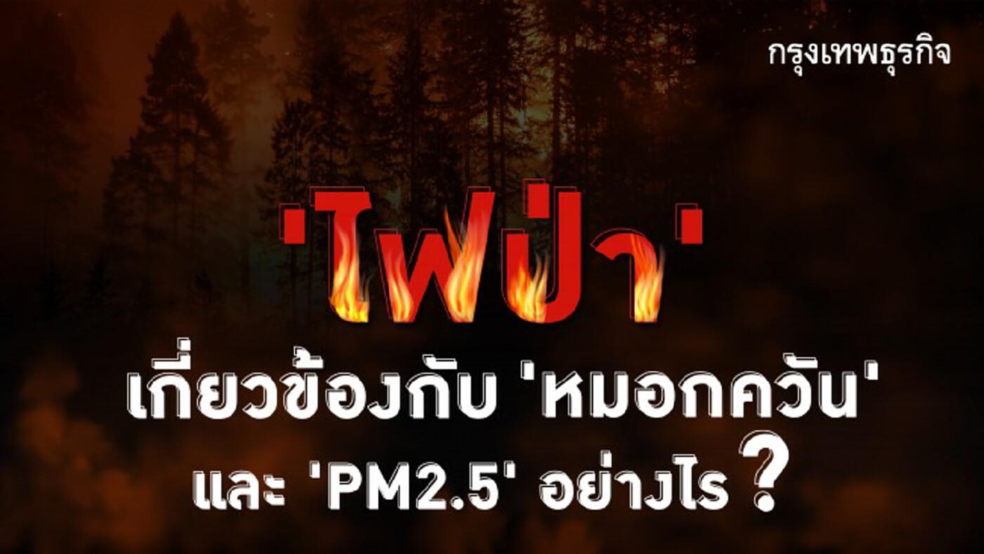 'ไฟป่า' เกิดจากอะไร ทำไมถึงเกี่ยวข้องกับ 'หมอกควัน' และ 'PM2.5'