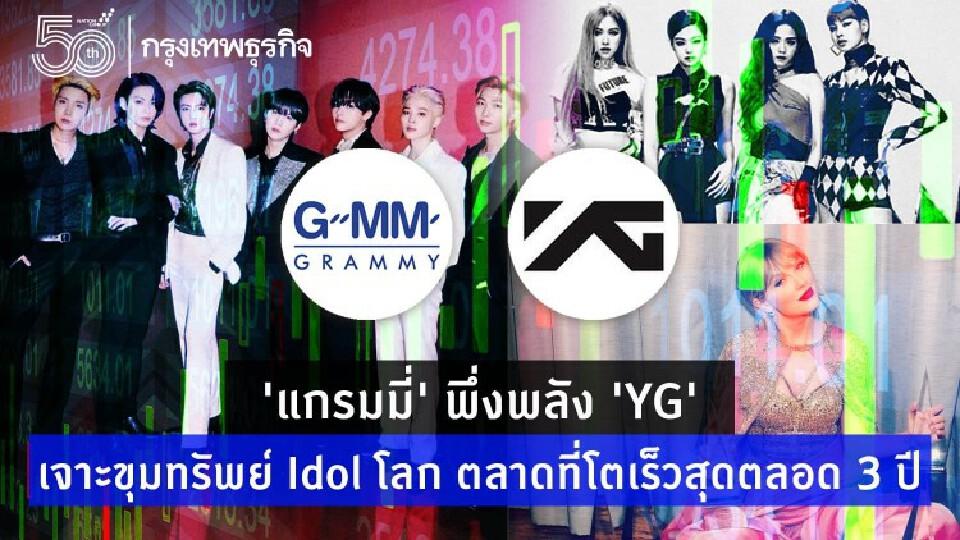 'แกรมมี่' พึ่งพลัง 'YG' เจาะขุมทรัพย์ Idol โลก ตลาดที่โตเร็วสุดตลอด 3 ปี