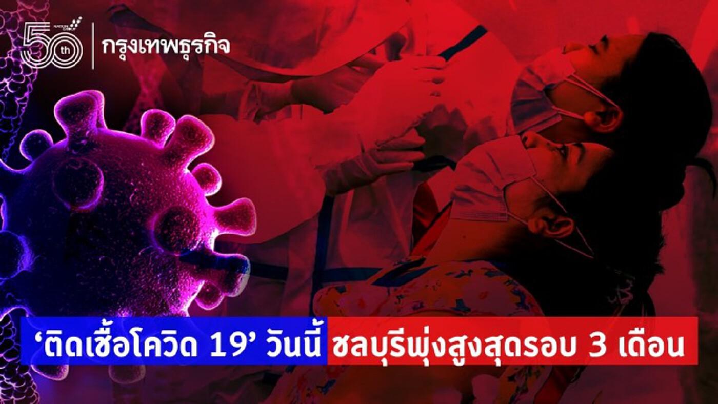'ติดเชื้อโควิด 19' วันนี้ ชลบุรีพุ่งสูงสุดรอบ 3 เดือน ทะลุ 390 ราย เช็คคลัสเตอร์ด่วน