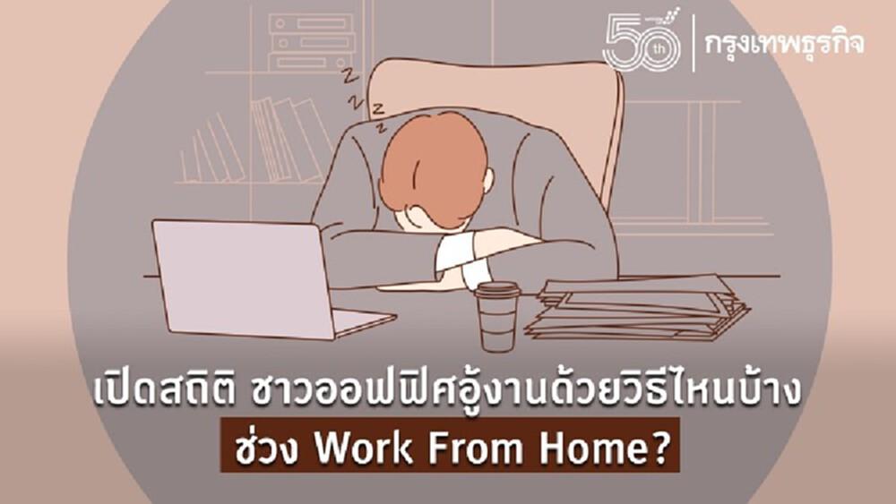 เปิดสถิติ ชาวออฟฟิศ 'อู้งาน' ไปทำอะไรบ้าง ช่วง Work From Home?