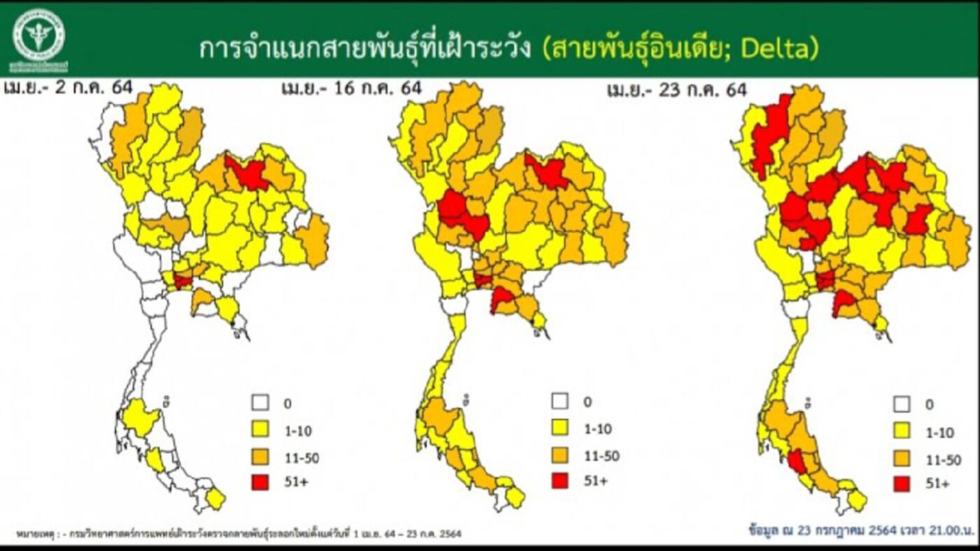 เปิดข้อมูล'เดลตา'ทำ'โควิด19'ระบาดในไทยหนักแค่ไหน