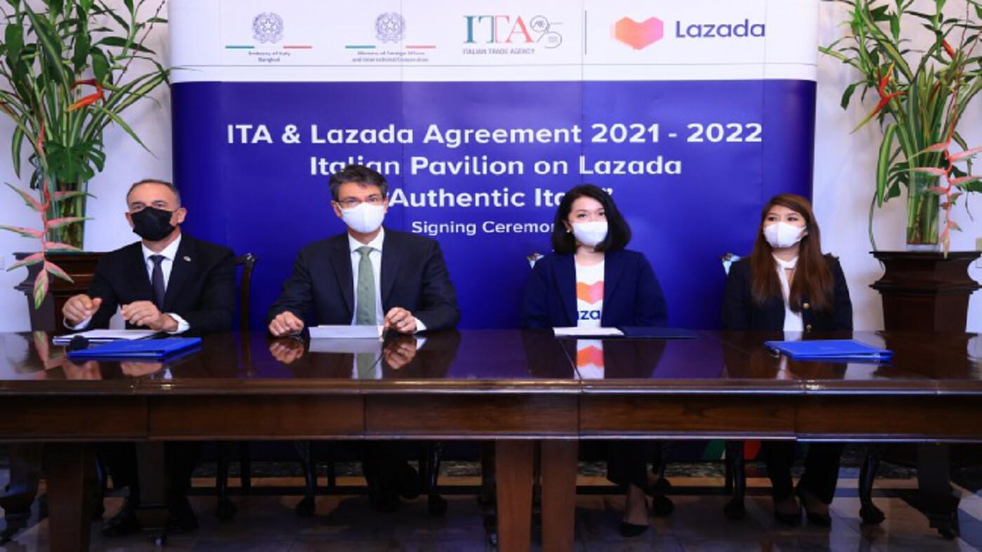 'ลาซาด้า' ดึง 'แบรนด์อิตาลี' ขายออนไลน์ ปลุกเร้าดีเอ็นเอนักช้อปไทย