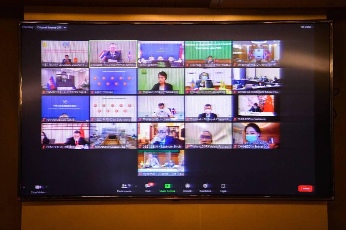 """""""เฉลิมชัย"""" เข้าร่วมประชุมระดับรัฐมนตรีด้านสุขอนามัยและสุขอนามัยพืช (SPS) อาเซียน-จีน ครั้งที่ 7"""