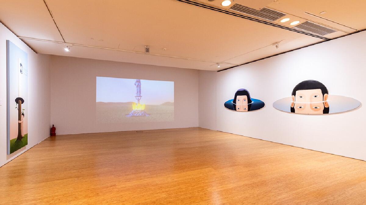 ผลงานศิลปินไทย'ก้องกาน'  ในงาน'Art Macao 2021'