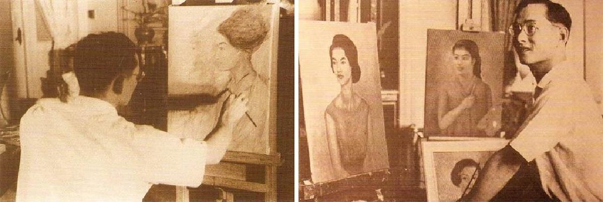 13 ตุลาคม วันคล้ายวันสวรรคต รัชกาลที่ 9 จิตรกรรมฝีพระหัตถ์มรดกศิลป์แผ่นดิน