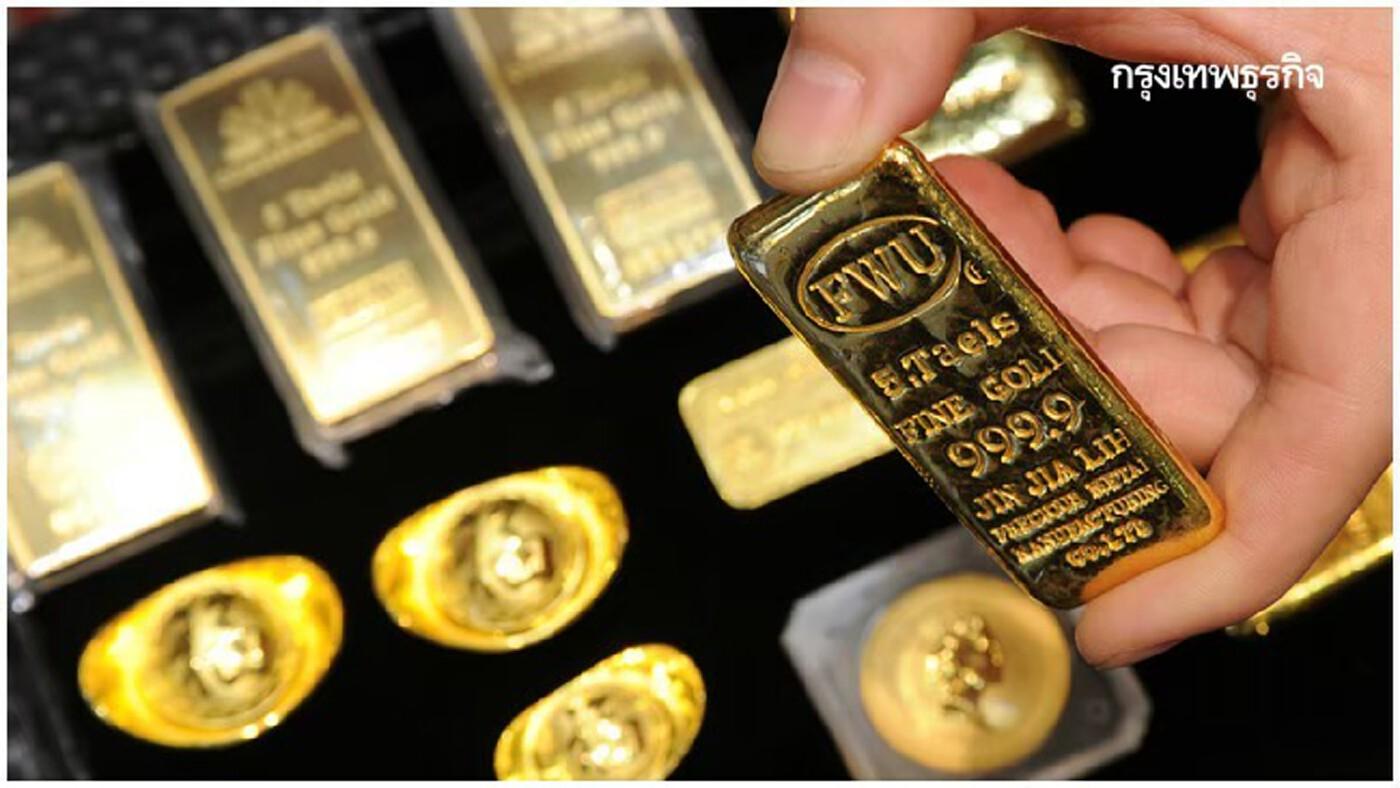 ราคาทองคำฟิวเจอร์พุ่งสวนทางหุ้นร่วง 12.40 ดอลล์