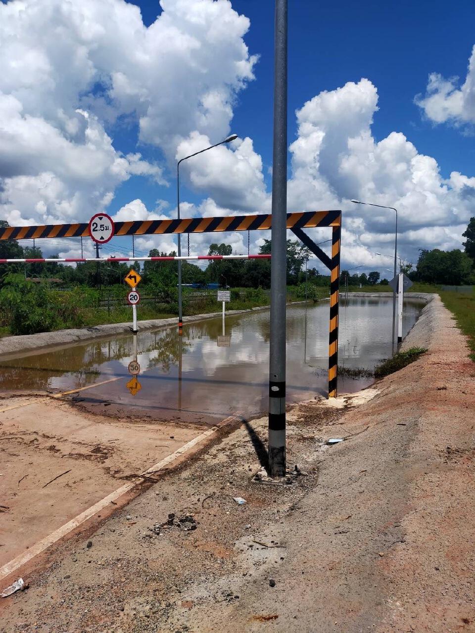 รฟท.แจงน้ำท่วมอุโมงค์ลอดทางรถไฟทางคู่ชุมทางจิระ - ขอนแก่น