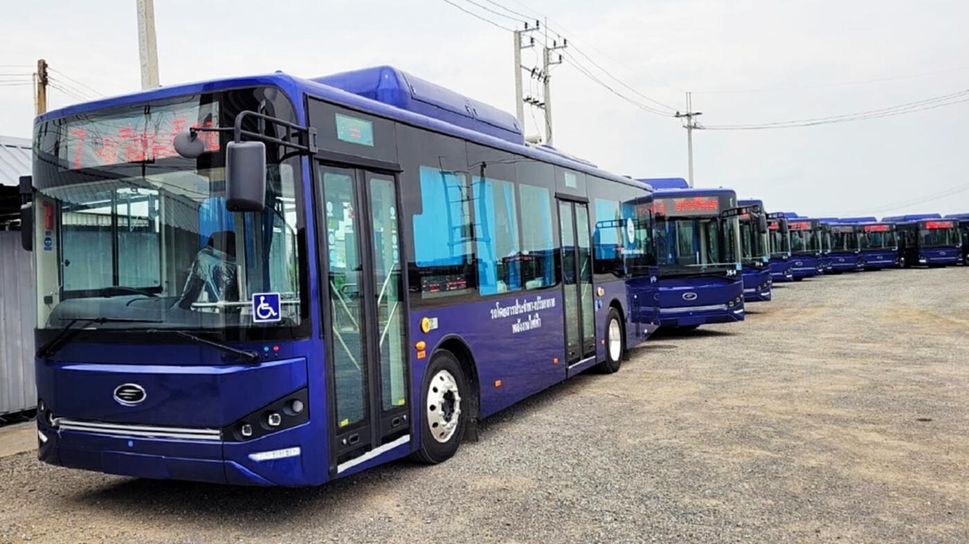 """""""ไทยสมายล์บัส"""" ทุ่ม 2 พันล้าน เปิดตัวรถเมล์ไฟฟ้า เริ่ม ต.ค.นี้"""