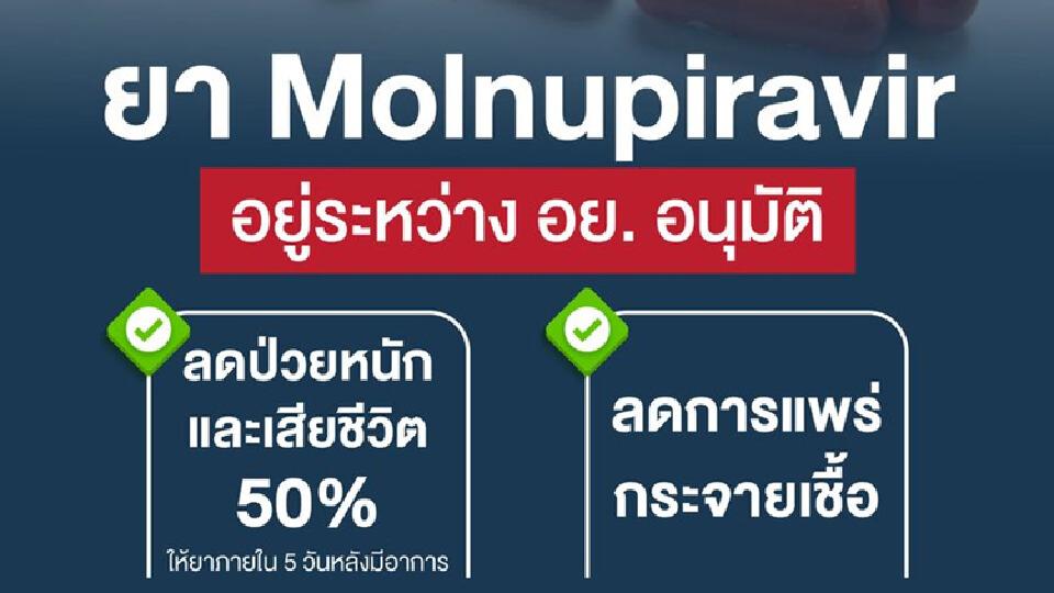 """""""หมอยง"""" อธิบาย โควิดกับการรักษา ด้วยยา Molnupiravir"""