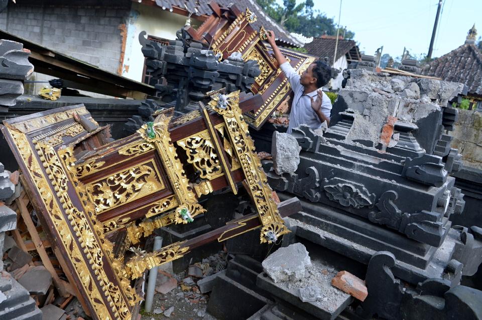 สังเวย3ศพเหตุแผ่นดินไหวบาหลีแรงสั่นสะเทือน 4.8 แมกนิจูด