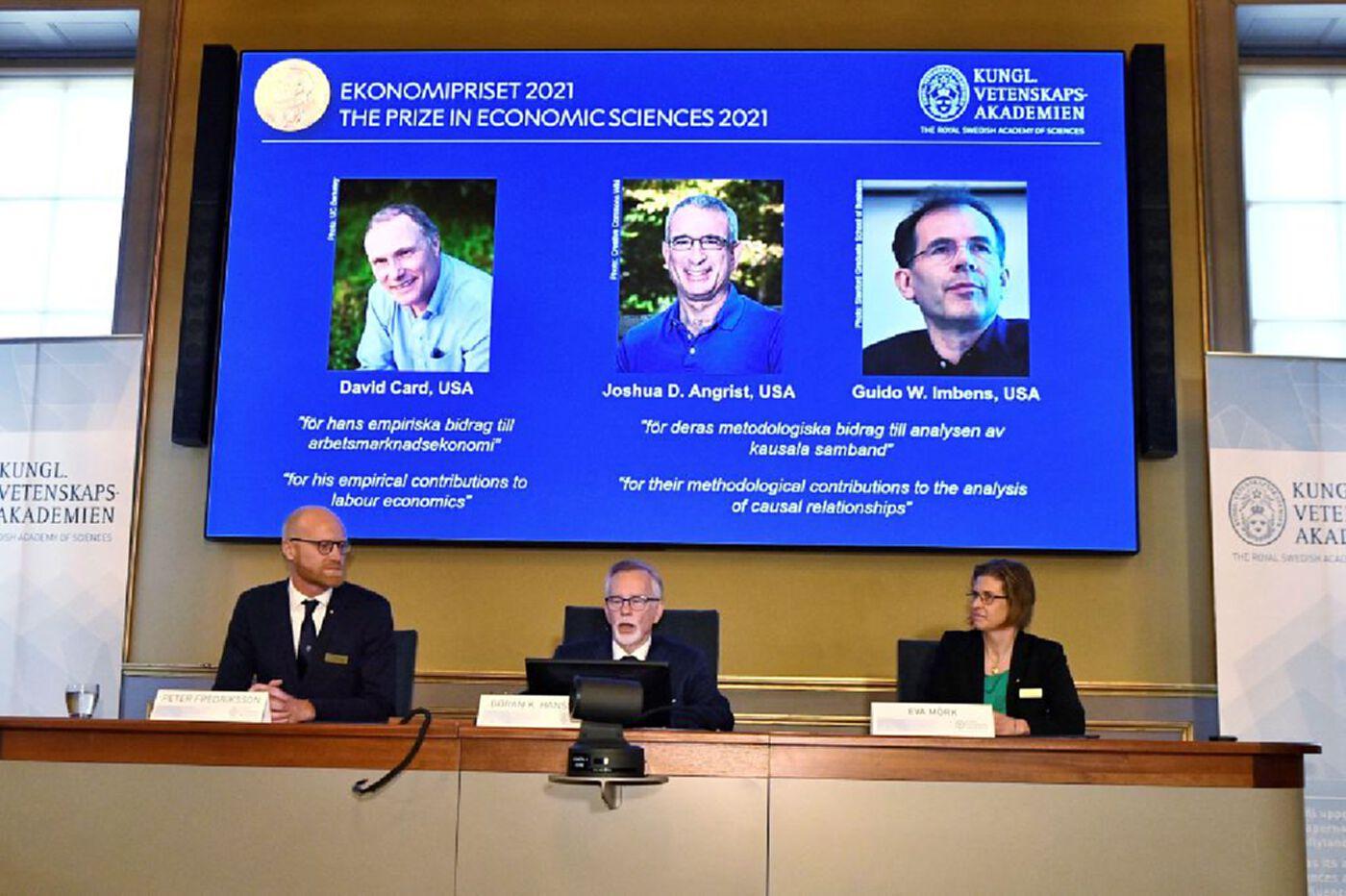 3 นักวิชาการสหรัฐคว้าโนเบลเศรษฐศาสตร์ ปี 2021